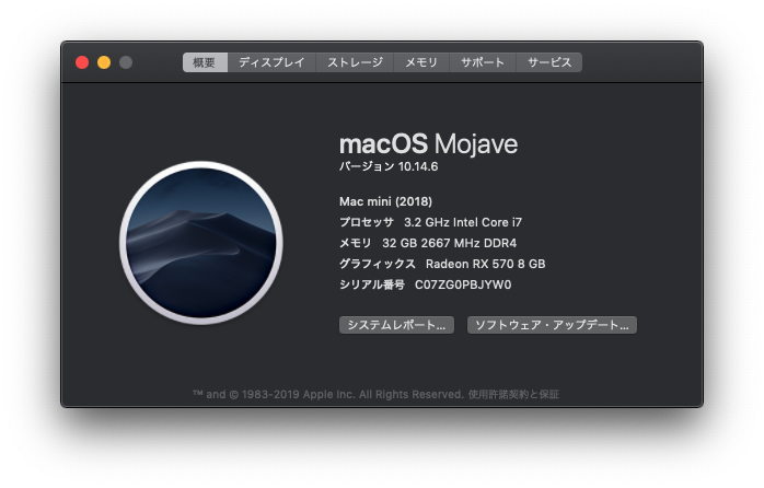 このMacについて 2019 11 10 22 24 11